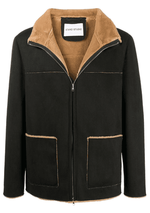 STAND STUDIO faux shearling jacket - Black