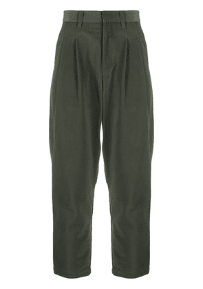 Attachment drop-crotch tapered trousers - Green