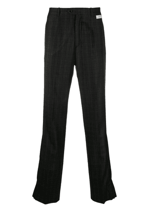 Off-White check-pattern tailored trousers - Black