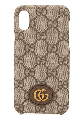 Gucci Ophidia GG Supreme iPhone X/XS case - Neutrals