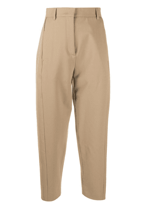 Alberto Biani cropped tailored trousers - Neutrals