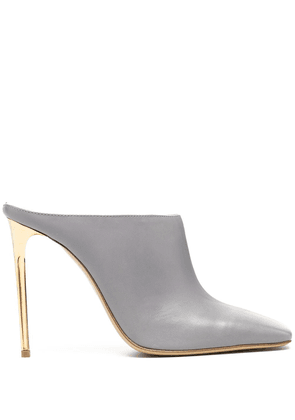 Gia Couture square-toe high-heel mules - Grey