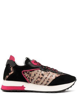 Ash Tiger leopard-print sneakers - Black