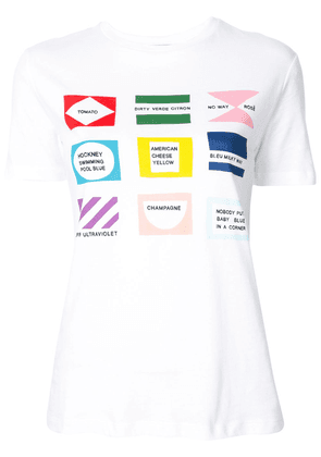 Être Cécile Flags T-shirt - White