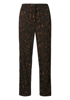 Erdem Gianna leopard-print cropped trousers - Brown