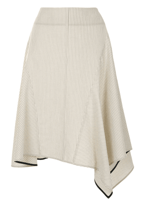 Eudon Choi A-line striped skirt - Neutrals