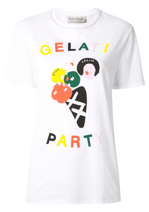 Être Cécile Gelati Party logo T-Shirt - White