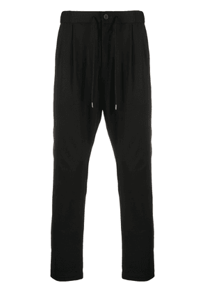 Attachment relaxed chino trousers - Black