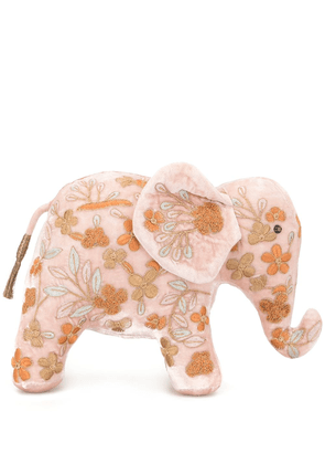 Anke Drechsel embroidered elephant soft toy - Pink