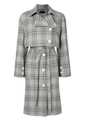 Eudon Choi Lois checked trench coat - Multicolour
