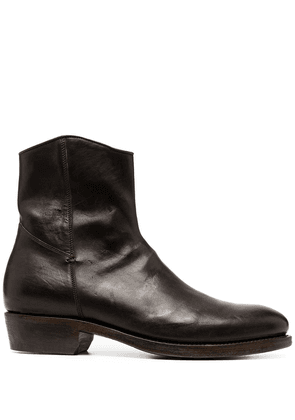 Ajmone leather ankle boots - Brown