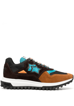 Atlantic Stars colour-block low top trainers - Brown