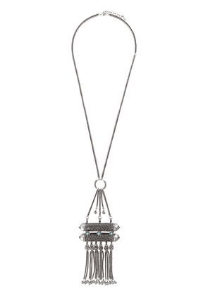 Saint Laurent oversized charm pendant necklace - Metallic