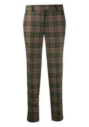 Alberto Biani checked cropped trousers - Green
