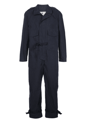 Snow Peak buckle detail jumpsuit - Blue