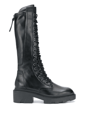 Ash lace-up combat boots - Black