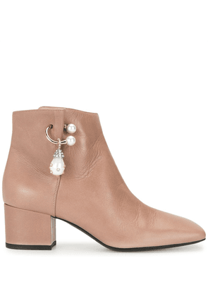 Coliac stone-embellished ankle boots - Purple