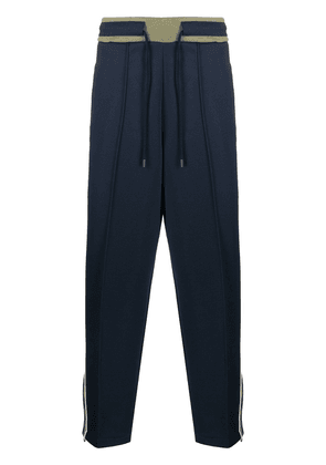 Fred Perry side stripe track pants - Blue