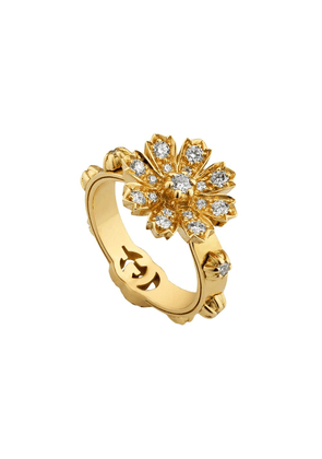 Gucci 18kt yellow gold floral ring