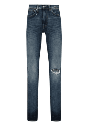 R13 Sid ripped-detail skinny jeans - Blue