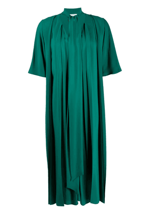 Erika Cavallini pleated midi shift dress - Green