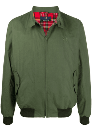 Fred Perry embroidered logo bomber jacket - Green