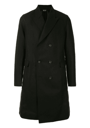 Nº21 Quilted Panel Coat - Black
