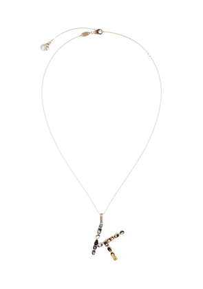 Dolce & Gabbana 18kt yellow gold initial K gemstone necklace