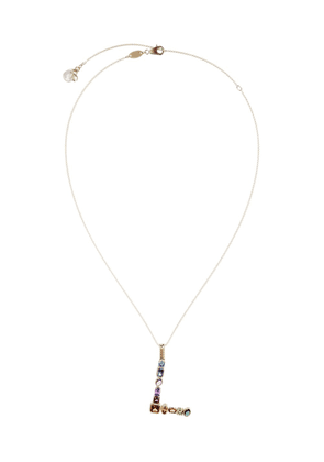 Dolce & Gabbana 18kt yellow gold initial L gemstone necklace
