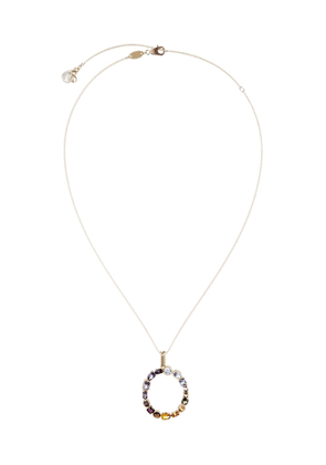 Dolce & Gabbana 18kt yellow gold initial O gemstone necklace