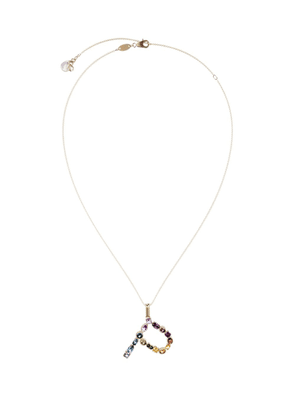 Dolce & Gabbana 18kt yellow gold initial P gemstone necklace