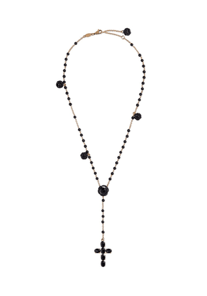 Dolce & Gabbana 18kt yellow gold sapphire Tradition rosary necklace