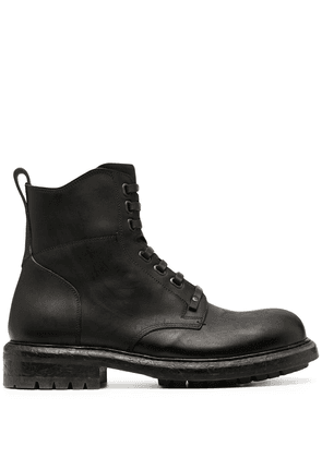 Dolce & Gabbana leather lace-up boots - Brown