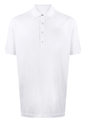 Dolce & Gabbana embroidered DG logo polo shirt - White