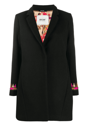 Bazar Deluxe embroidered single-breasted coat - Black