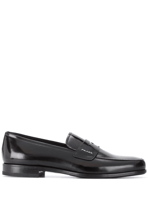 Prada classic varnished loafers - Brown