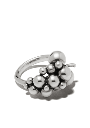 Georg Jensen small oxidised sterling silver Moonlight Grapes ring - SILVER COLOR