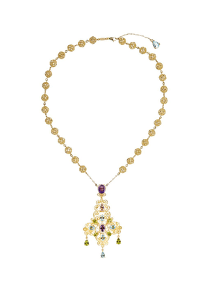 Dolce & Gabbana 18kt yellow gold bead pendant necklace