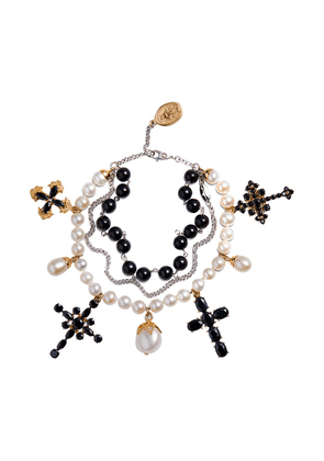 Dolce & Gabbana Family beaded bracelet - Gold