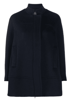 Gianluca Capannolo long sleeve concealed placket coat - Blue