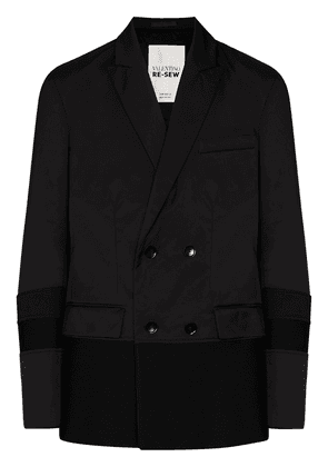 Valentino double-breasted panelled blazer - Black