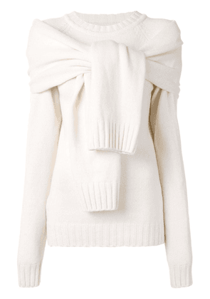 Eudon Choi Fini knotted jumper - White