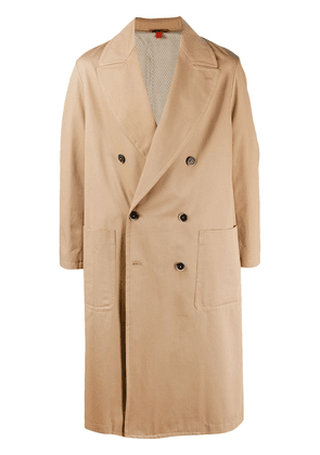 Barena panelled double-breasted coat - Neutrals