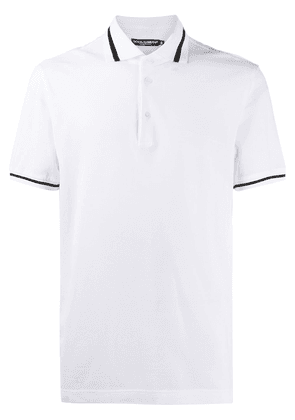 Dolce & Gabbana embroidered-logo polo shirt - White