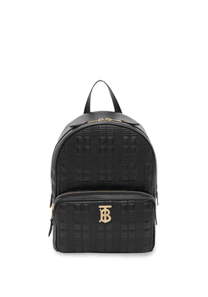 Burberry monogram plaque quilted backpack - Black