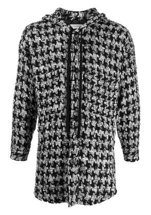 Faith Connexion hooded button-up tweed jacket - Black