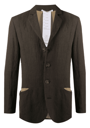 Cherevichkiotvichki single-breasted linen coat - Green