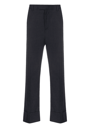 Opening Ceremony pinstriped cuffed tailored trousers - Blue