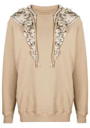 Opening Ceremony scarf-embellished hoodie - Neutrals