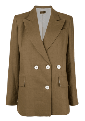Eudon Choi double-breasted jacket - Brown
